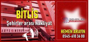 Bitlis şehirler arası nakliyat